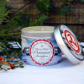 Merry Manx Christmas Candle by Lovely Greens
