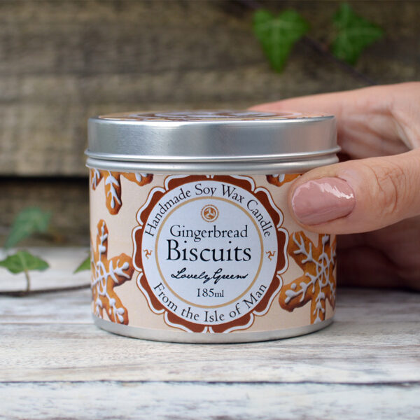 Gingerbread Biscuits Soy Wax Candle by Lovely Greens