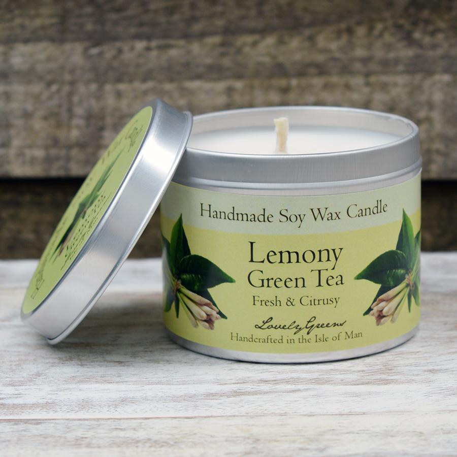 Lemony Green Tea Candle handmade on the Isle of Man