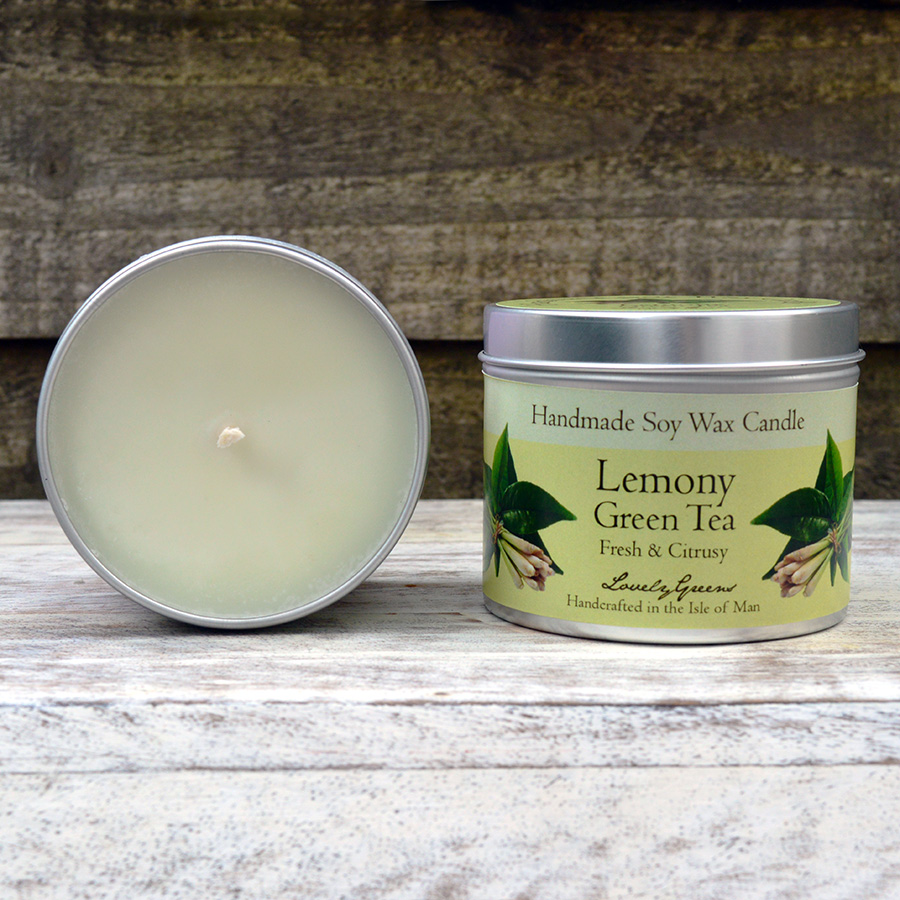 Lemony Green Tea Candle handmade on the Isle of Man