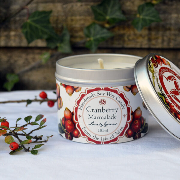 Cranberry Marmalade Candle handmade on the Isle of Man
