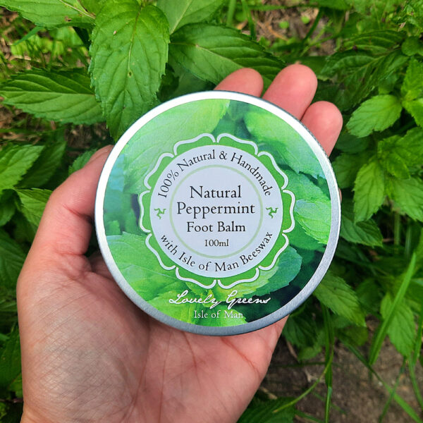 Natural Peppermint Foot Balm from Lovely Greens